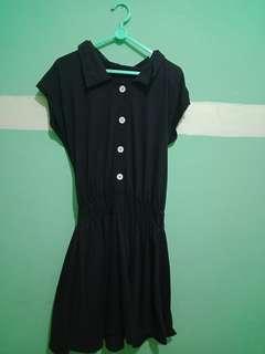 Jual Rugi Dress Kancing Hitam (Dijual Kondisi Mulus👌)