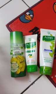 ACNES FACIAL FOAM & SARIAYU ACNE LOTION