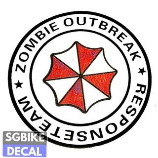 Zombie Outbreak Reflective Decal