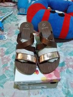 GRENDHA Wedge brown/bronze