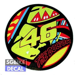 VR46 Reflective decal round