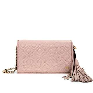Tory Burch Fleming Quilted Wallet Crossbody