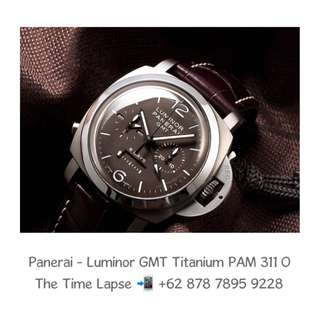 Panerai - Luminor GMT, 8 Days Monopulsante Titanium PAM 311 'O'