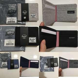 Herschel銀包淺灰/深灰/牛仔藍/黑色全卡位$200