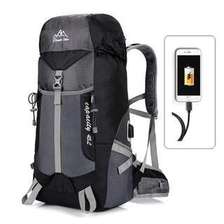 Cleverbees USB Water Resistant Hiking Travel Backpack Bag