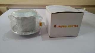 花紋越南咖啡滴壺