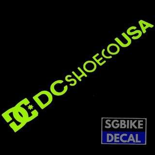 DC Neon Yellow Decal