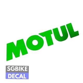 Motul Neon Green Decal
