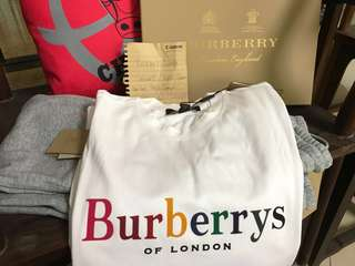 SALE Burberry rainbow set (tee and cotton trousers )