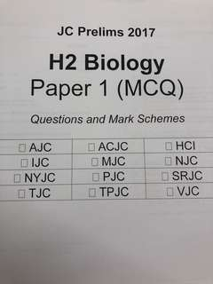 H2 Biology MCQs (New Syllabus)