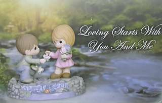 Precious Moments Figurine ( Loving Starts With You And Me )