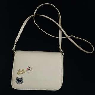 Cat Badge Sling Bag
