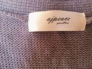 🚚 霧霾紫小口袋針織罩衫 近全新