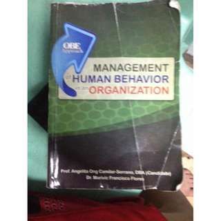 Human Behavior in Organization HBO BOOK