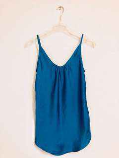 Teal Satin Camisole by Bluejuice (Never Worn)
