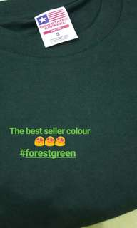 Kaos Polos Murah Forest Green