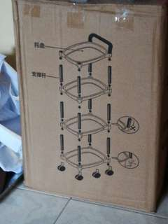 Trolley rack for baby stuff