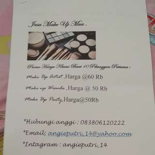 Jasa make up mua