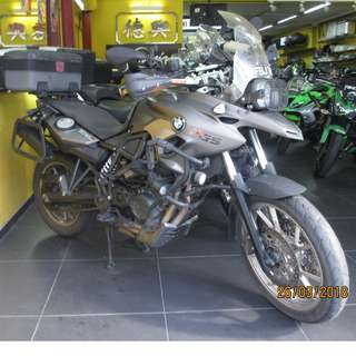 BMW F700GS DEC 2013 $17K D/P $500 or $0 With out insurance (Terms and conditions apply. Pls call 67468582 De Xing Motor Pte Ltd Blk 3006 Ubi Road 1 #01-356 S 408700.