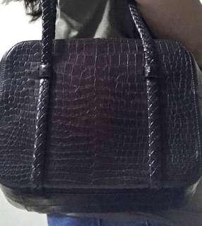 Bally Croc leather bag