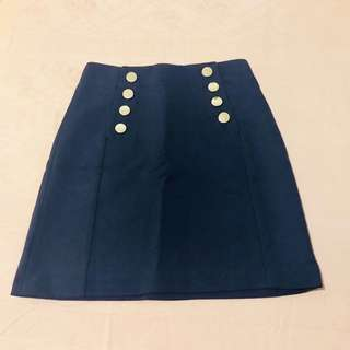 H&M Navy Blue Skirt