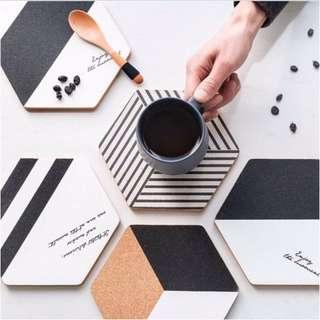 0186/ Nordic Style Hexagonal Cork Pot Pad