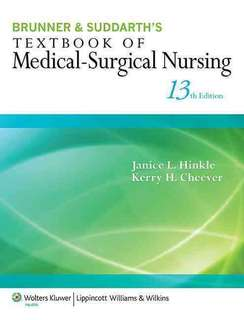 Brunner & Suddarth's Textbook of Medical Surgical Nursing 13th Edition