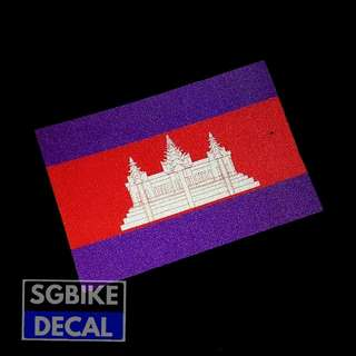 Cambodia Reflective Decal