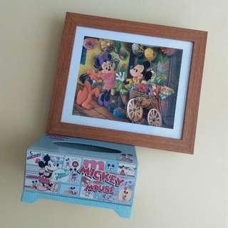 🚚 Disney 掛飾面紙盒 共2件