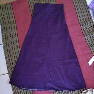 Rok ungu panjang polos