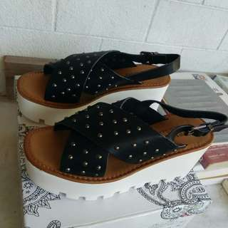 Chunky Studded Sandals (People are People)