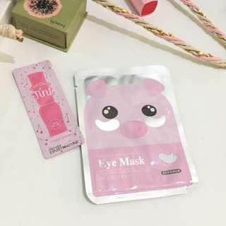 Eye mask and lip tint (keduanya)