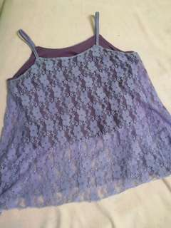 Cute purple lacy top