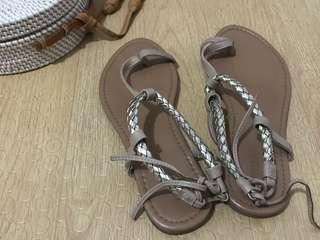 F21 Flat Strappy Sandals
