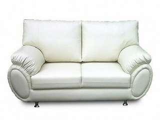 Sofa Putih Polos minimalis bisa kredit