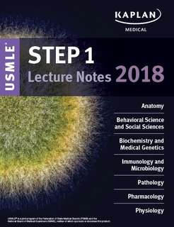Kaplan USMLE Step 1 Lecture Notes 2018 – All Subjects PDF copy