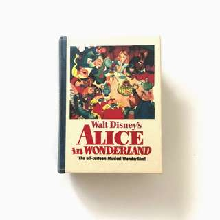 Walt disney Alice in wonderland book storage