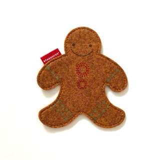 Starbucks Korea Gingerbread Man coffee Cup Coaster