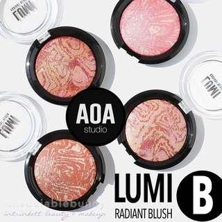 🆕LUMI BLUSHES Marbled Baked Swirled Blush B AOA Studio INSTOCK Cosmetics
