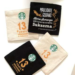 Starbucks Indonesia reversible coffee cup coaster