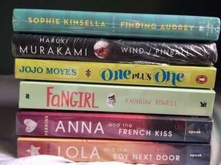 Finding Audrey, Haruki Murakami, Lola and the Boy next door, Anna and the French kiss, One Plus One, Fangirl