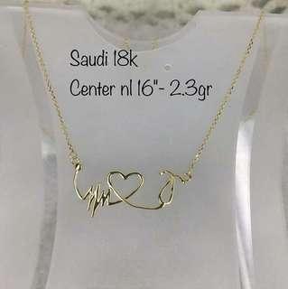 Saudi Gold 18K heart beat