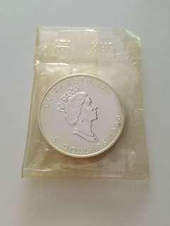Elizabeth II $5 dollars Fine silver Maple Leaf