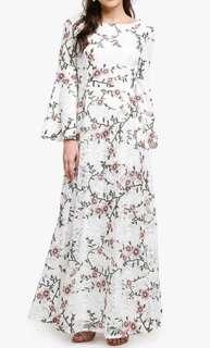 Dress bersulam bunga