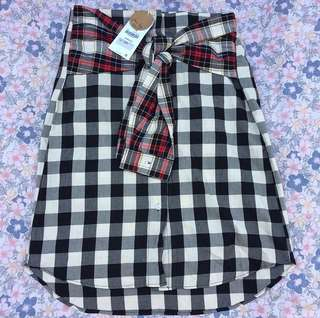BNWT ZARA plaid skirt w/ attached arm jacket