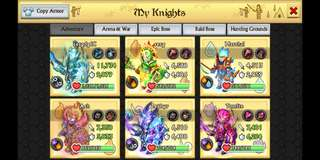 🚚 KnD account (knights and dragons)