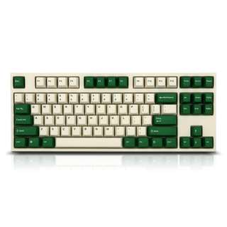 Leopold FC900R/FC750R White/Green PD Double Shot PBT Mechanical Keyboard