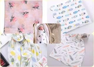 🚚 ✨熱銷款✨muslin 棉質包巾