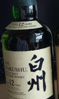 日本威士忌 白州12年 Hakushu 美版無盒