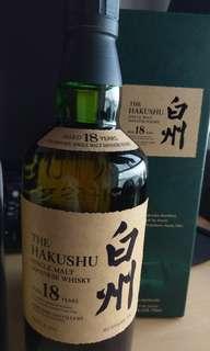 日本威士忌 白州18年 Hakushu 美版有盒